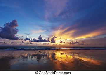 Spectacular sunset