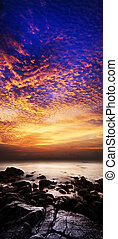 Spectacular sunset scene