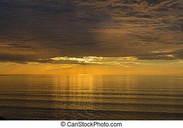 Spectacular sunset seascape