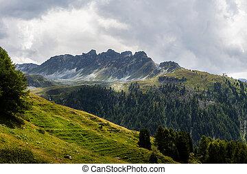 Spectacular swiss mountain landscape