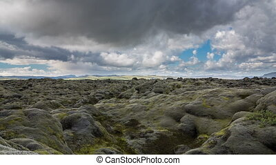 moss-covered lava fields - Spectacular Time Lapse of the ...