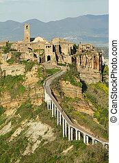 spectacular view of Civita di Bagnoregio