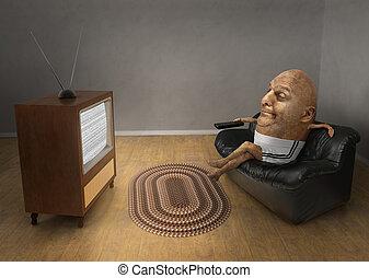 spectateur télé