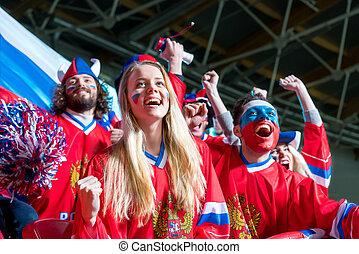 Spectator - Happy fans in stadium