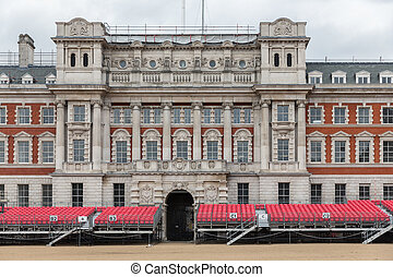 Spectator platform for Horse Guards parade in London