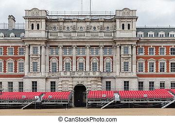 Spectator platform for Horse Guards parade in London
