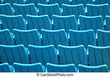 Spectators - Rows of blue seats