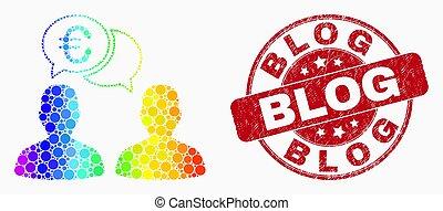 spectral, グランジ, 人々, 切手, blog, ベクトル, pixelated, チャット, ユーロ, アイコン