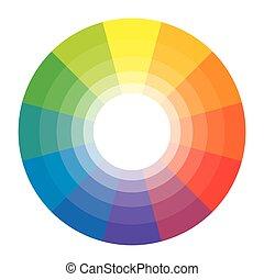 spectral, arco irirs, 12, segments., patrón, set., harmonic,...