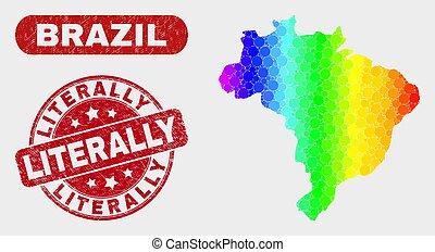 spectral, brésil, détresse, carte, timbre, literally, ...