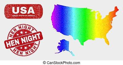 spectral, carte, grunge, usa, watermark, alaska, nuit, poule, mosaïque