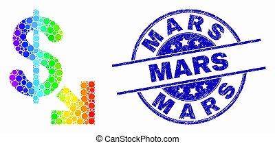 spectral, détresse, timbre, dollar, vecteur, exportation, mars, point, icône