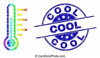 spectral, détresse, timbre, vecteur, température, icône, point, frais