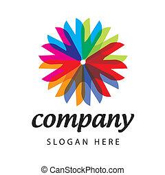 Spectral flower logo
