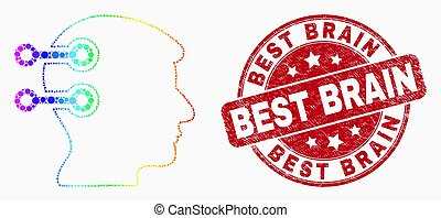 spectral, gratté, liens, cerveau, vecteur, point, cachet, interface, mieux, icône