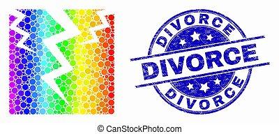 spectral, gratté, timbre, divorce, vecteur, fissure, point, icône