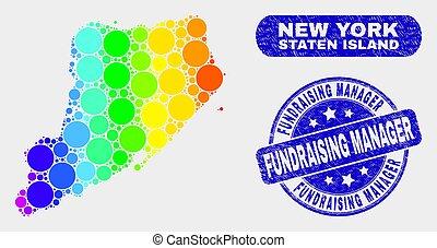 spectral, kaart, fundraising, postzegel, eiland, staten,...