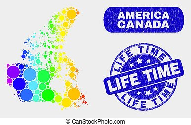 Spectral Mosaic Canada V2 Map and Scratched Life Time Seal