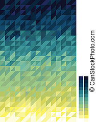 Spectral triangle pattern, gradient from yellow to dark blue