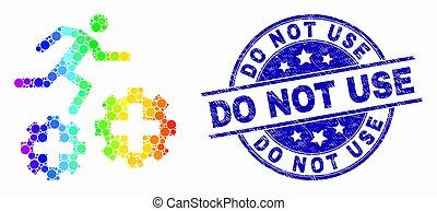 spectral, usage, patient, courant, vecteur, engrenages, cachet, pas, grunge, pixel, icône
