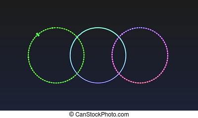 spectre, audio, coloré, cercle, créé