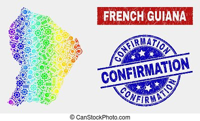 Spectrum Assemble French Guiana Map and Distress Confirmation Seals