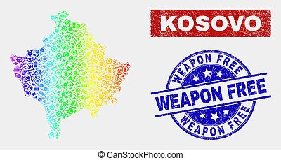 Spectrum Assembly Kosovo Map and Scratched Weapon Free Watermarks