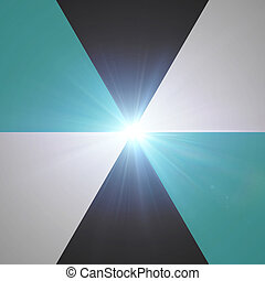 spectrum blue color with lens flare