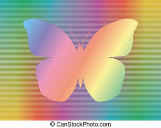 spectrum butterfly - shape of butterfly over abstract...