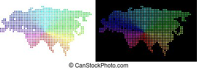 Spectrum Dotted Eurasia Map - Spectrum dotted Eurasia map....