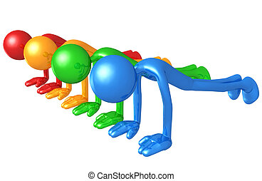 Spectrum Fitness - 3D Concept And Presentation Figure