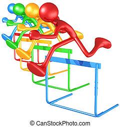 Spectrum Hurdles - 3D Concept And Presentation Figure