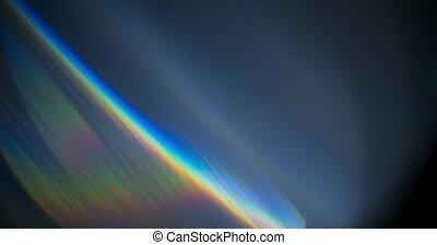 Spectrum Light Flare Prism Rainbow Light Flares Overlay on Black Background