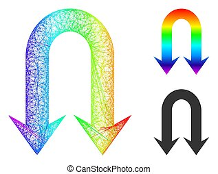 Spectrum Linear Gradient Double Back Arrow Icon