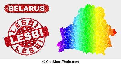 Spectrum Mosaic Belarus Map and Distress Lesbi Seal