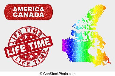 Spectrum Mosaic Canada V2 Map and Scratched Life Time Seal