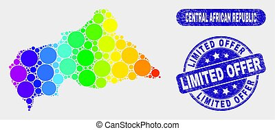 Spectrum Mosaic Central African Republic Map and Distress Limited Offer Seal
