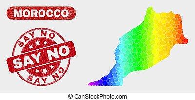 Spectrum Mosaic Morocco Map and Distress Say No Seal