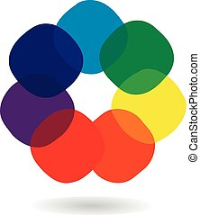 Spectrum wheel logo - Spectrum wheel with rainbow colors,...