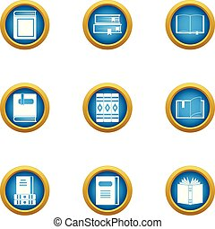 Speculative icons set, flat style