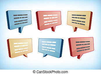 Speech and text boxes