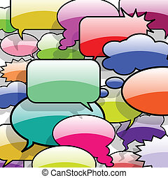 Speech And Thought Bubbles - Illustration of speech and...