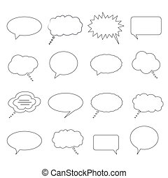 Speech and thought bubbles - Speech, dialogue and thought...