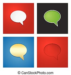 Speech Bubble Background Set. Vector Illustration