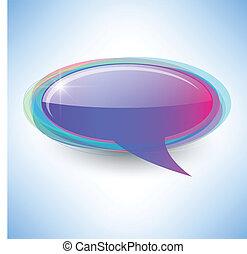 Speech bubble background - Vector speech bubble abstract...