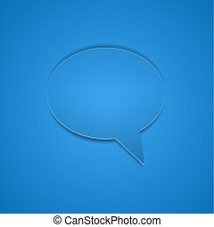 Speech Bubble Background. Vector Illustration