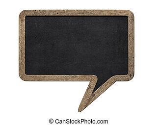 Speech bubble blackboard