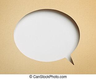 Speech bubble - Blank paper speech bubble