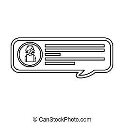 speech bubble blog icon