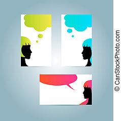speech bubble business card templates